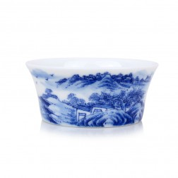 Blue and White Porcelain Cup-Gloaming
