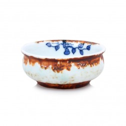 Blue and White Porcelain Standing Cup-Chai Yao-Bottle Gourd