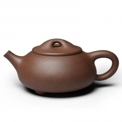 Zi Sha-Purple Clay Tea Pot-260ML-Stone Gourd Ladle-B