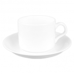Customizable White Porcelain Coffee Cup-F