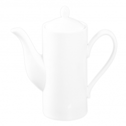 Customizable White Porcelain Coffee Pot-A
