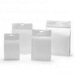 White Kraft Paper with Aluminium Foil Lamination  Standup Zipper Pouch/Bag-C