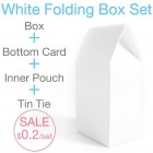 White Card Paper Folding Bag Box Set